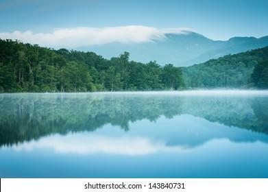 North Carolina Grandfather Mountain Julian Price Memorial Park Lake Blue Hour Reflection