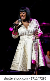 North Carolina - January 11, 2014:  Patti Labelle performs live in concert as part of her 2014 world tour.