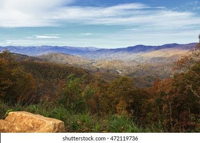North Carolina Mountains with Fall Color