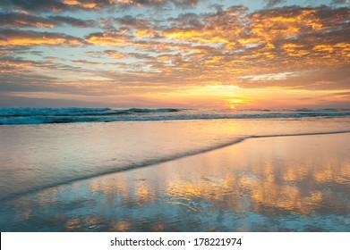 North Carolina Outer Banks Sunrise Pea Island National Wildlife Refuge