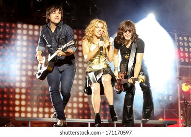 NORTH CAROLINA - September 29, 2013:  Music artist The Band Perry perform on their 2013 Summer Tour