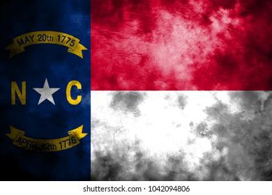 North Carolina state grunge flag, United States of America