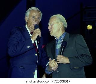 North Carolina, USA, 1991McLean Stevenson and President Gerald Ford at Crosby golf tournament.,