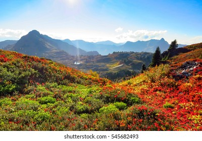 North Cascade Range, Washington / USA: Autumn at the Yellow Aster Butte hiking trail
