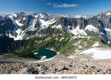 The North Cascades National Park from the Sahale Glacier
