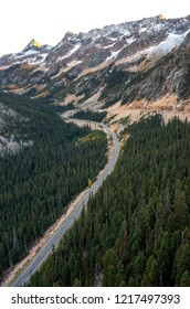The North Cascades Scenic Highway in North Cascades National Park, WA-USA