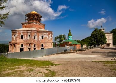North Caucasus. Assumption Varoufakis Beshtaugorsky monastery. Temple