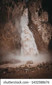 North Caucasus. Waterfall.Mountains. Jila su.