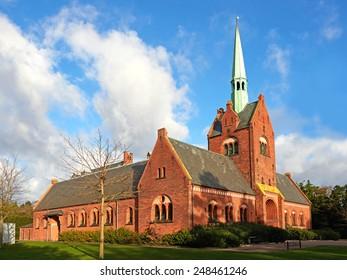 North chapel in vestre cemetery located in Copenhagen, Denmark