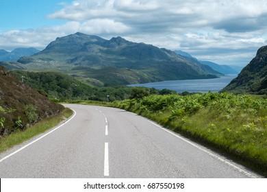 The North Coast 500 scenic route around the north coast of Scotland.
