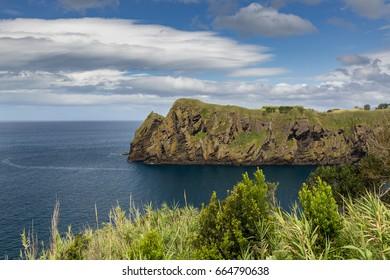 North Coast at Capelas on Sao Miguel Island, Azores archipelago in the Atlantic Ocean, Portugal