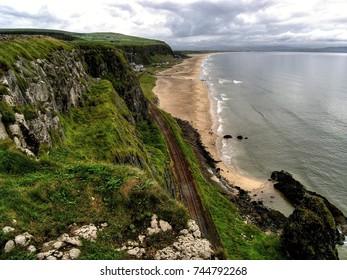 North Coast Cliffs of the Green of Ireland