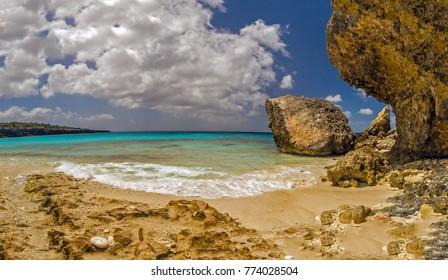 North Coast of the tropical island of Bonaire