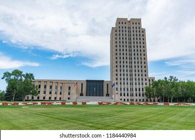 North Dakota Capital Building in Bismarck, ND