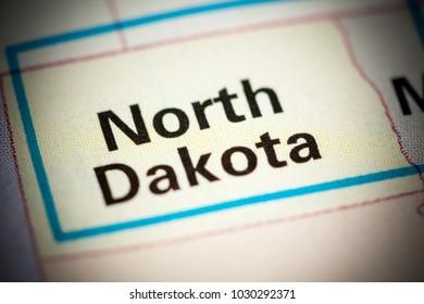 North Dakota. North Dakota. USA on a map.