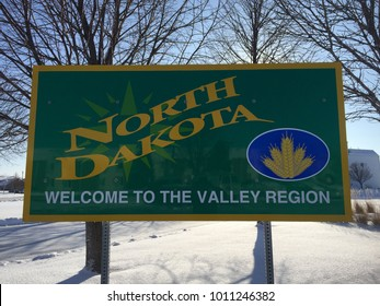 North Dakota welcome sign