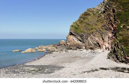 North Devon seascape at Heddon's Mouth