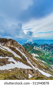 North eastern viewpoint of Pic du Midi de Bigorre, Hautes Pyrenees, France