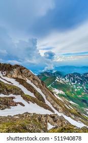 North eastern viewpoint of Pic du Midi de Bigorre, Hautes Pyrenees, France
