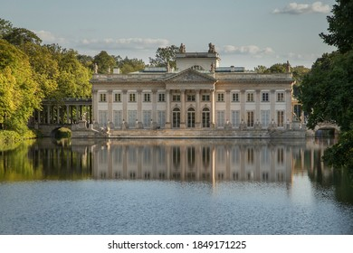 North facade of the Palace on the Isle in Lazienki Park in Warsaw, Poland