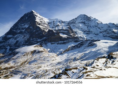 North face of Eiger mountain and Moench, Jungfrau region, Switzerland