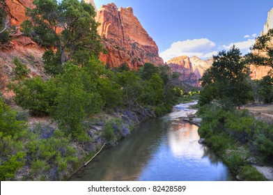 North Fork Virgin River as seen from Emeral Pool trail