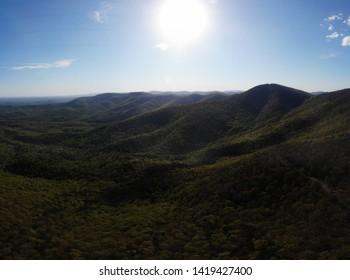 North Georgia Mountains (Appalachia) Aerial Drone HDR Shot