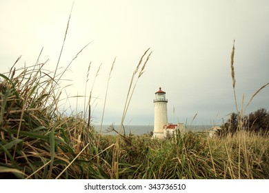 The North Head lighthouse at Cape Disappointment State Park outside of Ilwaco, Washington.