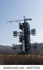 NORTH KOREA - CIRCA JULY, 2012 / Sohae Satellite Launching Station. A rocket launching site in Cholsan County, North Pyongan Province, North Korea.