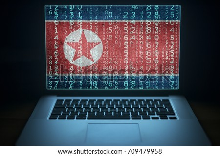 North Korea hacker Laptop