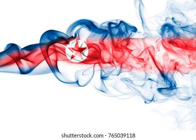 North Korea smoke flag