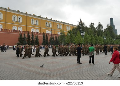 North Korean Army Soldiers in Moscow. North Korea, officially the Democratic People's Republic of Korea (DPRK) has a hug armed force called Korean People's Army. Moscow Russia 29th August 2015.