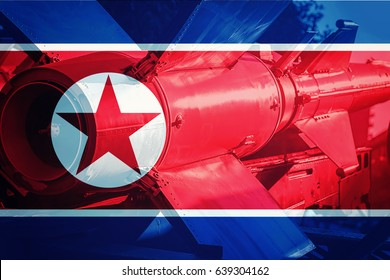 North Korean ICBM missile. Nuclear bomb, Nuclear test.