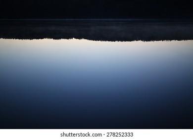 North lake reflection at night.
