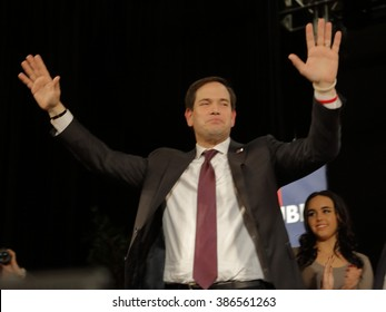 NORTH LAS VEGAS, NV - FEBRUARY 21: Republican presidential candidate Sen. Marco Rubio speaks at a rally at the Texas Station Gambling Hall & Hotel on February 21, 2016 in North Las Vegas, Nevada.