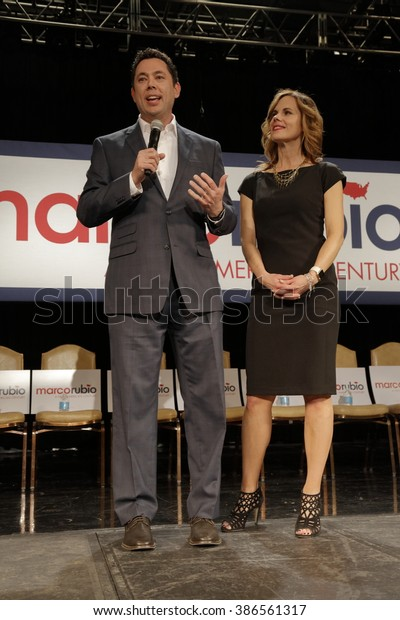 NORTH LAS VEGAS, NV - FEBRUARY 21: U.S. Rep. Jason Chaffetz & Julie Chaffetz supporters for Republican presidential candidate Sen. Marco Rubio, Texas Station North Las Vegas, Nevada.