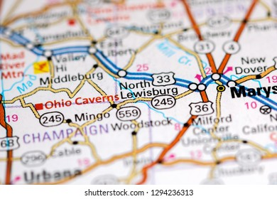 Lewisburg Ohio Map.Map Of Ohio Stock Photos Images Photography Shutterstock