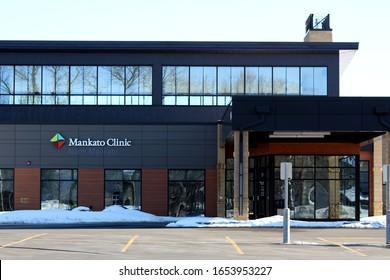 North Mankato, MN/USA - 02/23/2020: Mankato Clinic Building in North Mankato, MN.