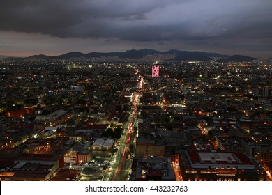 North of Mexico City from the Latino Tower