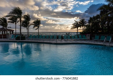 North Miami Beach, Florida, December 5, 2017: DoubleTree Resort Hotel Ocean Point, North Miami Beach in Sunny Isles, Florida