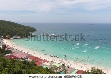 e9c4433b634 ... Stock Photo (Edit Now) 608696438 - Shutterstock. North pier and Tawaen  beach on a sunny day. Thailand