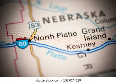 North Platte. USA on a map.