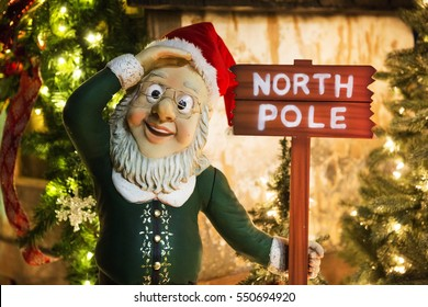 North Pole residence of Santa Claus. Merry Christmas
