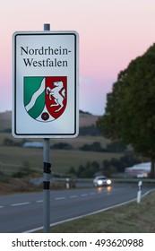 North Rhine-Westphalia sign germany