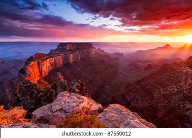 North Rim av Grand Canyon Cape Royal
