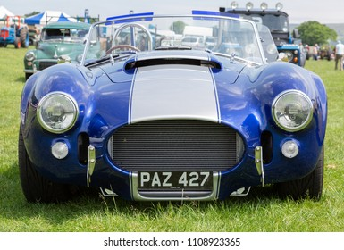 NORTH RODE, CHESHIRE UK - JUNE 9th 2018: North Rode vintage Rally at North Rode; Cheshire - a Dax Tojeiro replica AC Cobra 427, JUNE 9th 2018