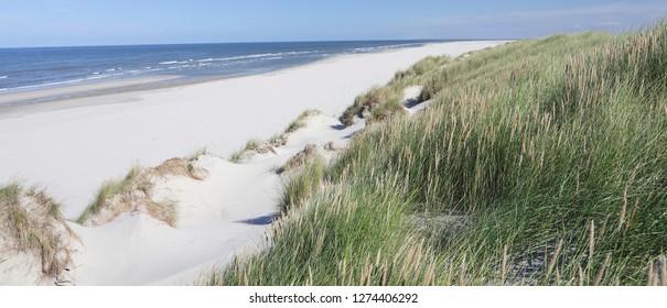 North sea beach, island Ameland. Dutch.