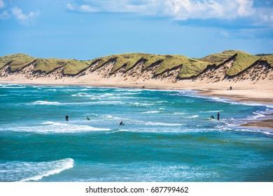 North sea beach, Jutland coast in Denmark