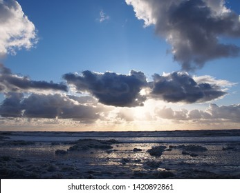 North Sea beach in the later afternoon (Zandvoort aan Zee, North Holland, The Netherlands)