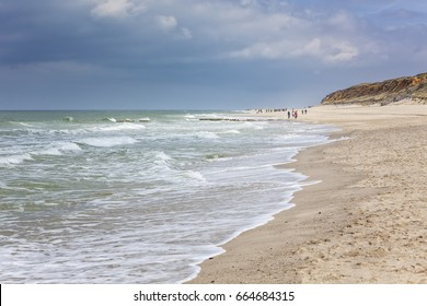 North Sea beach of Rotes Kliff at Kampen, Sylt